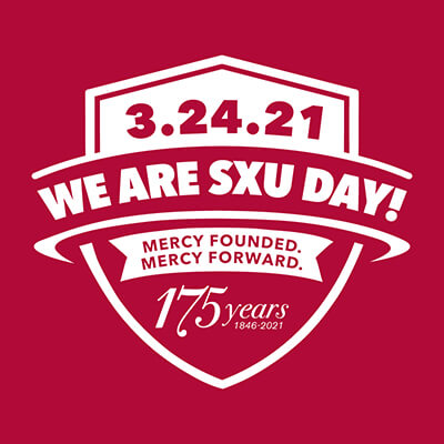 We Are SXU Day red graphic with white letting