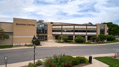 Shannon Center exterior on a sunny day