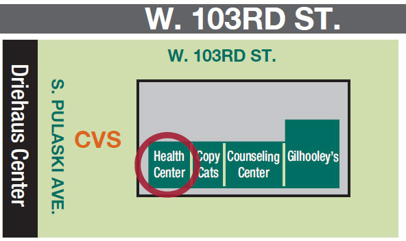 Health Center Map