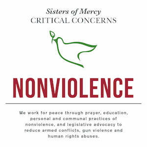 Sisters of Mercy Critical Concern with nonviolence and a quote underneath