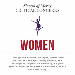 Sisters of Mercy Critical Concern with Women and a quote underneath