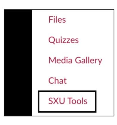 SXU Tools Navigation Menu