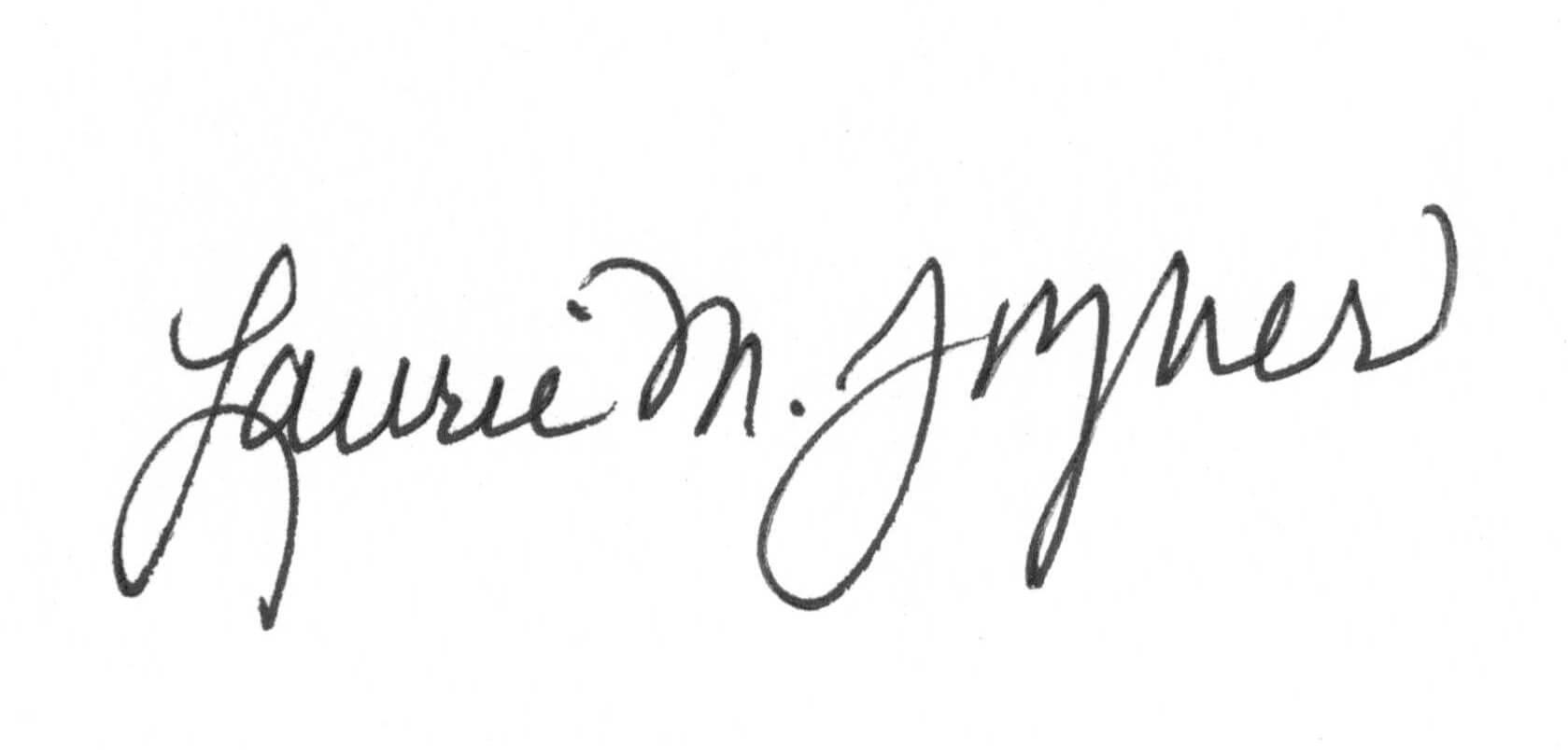President Laurie M. Joyner, Ph.D. signature