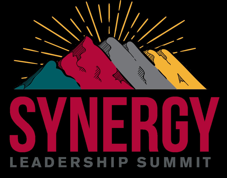 Four mountains that make the Synergy Leadership Summit Logo