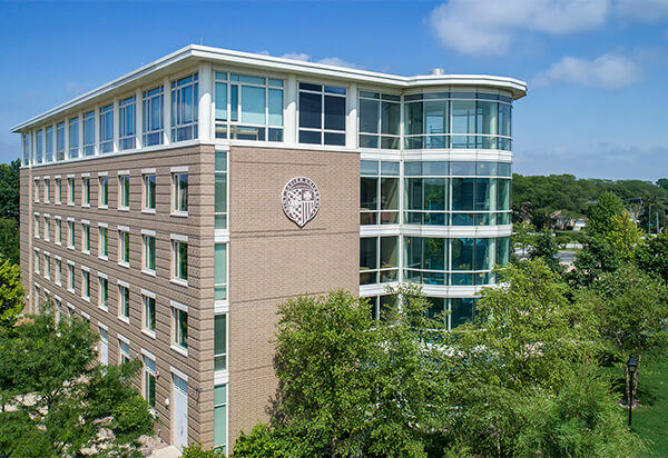 Aerial view of O'Brien Hall