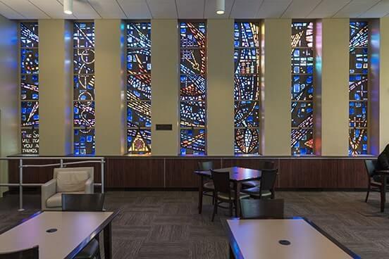 Robert and Mary Rita Stump Library Windows