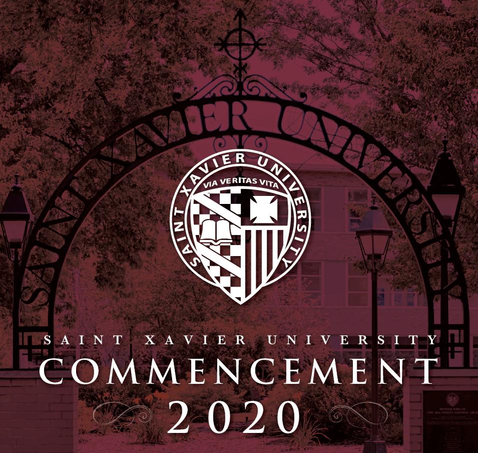 Program Cover for 2020 Saint Xavier Commencement
