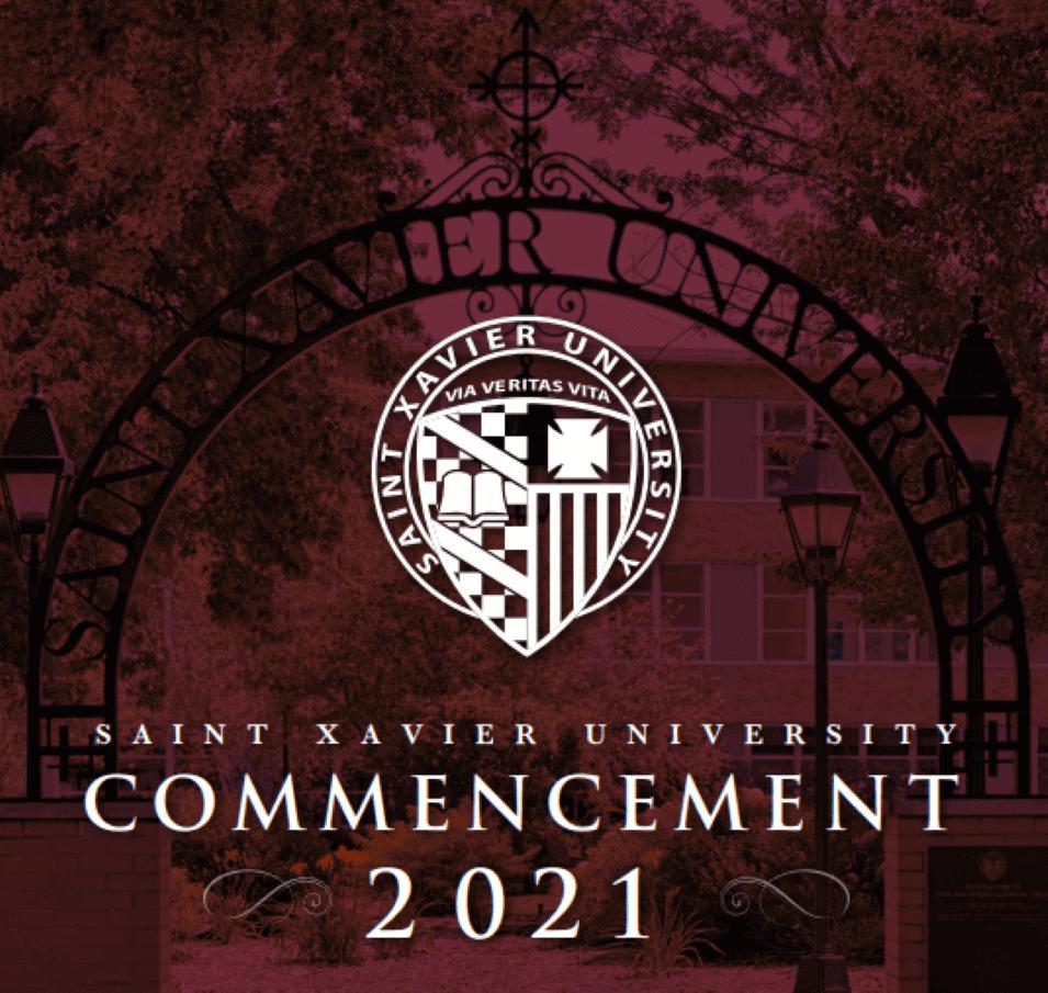 Program Cover for 2021 Saint Xavier Commencement