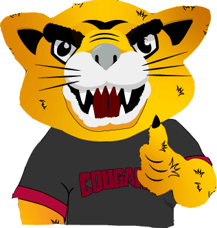 Champ the Cougar in animated form