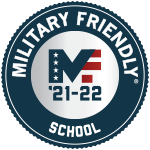 Badge for SXU being named Military Friendly® School