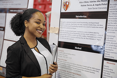 Student at the Research Expo