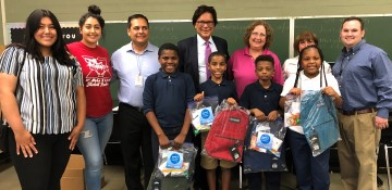 GSM donates backpacks
