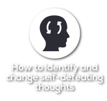 How to identify and change self-defeating thoughts